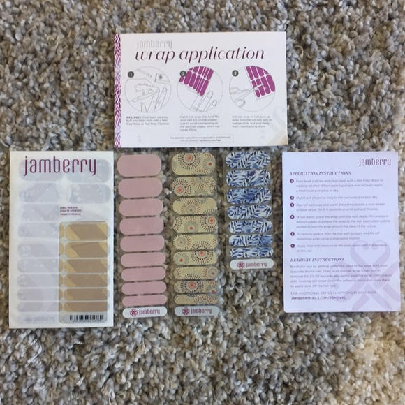 Jamberry Other Nail Wraps Instructions Included Poshmark